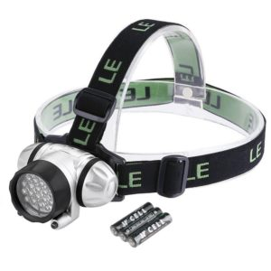 Best LE Headlamp LED 4 Modes Headlight Battery Powered Helmet Light